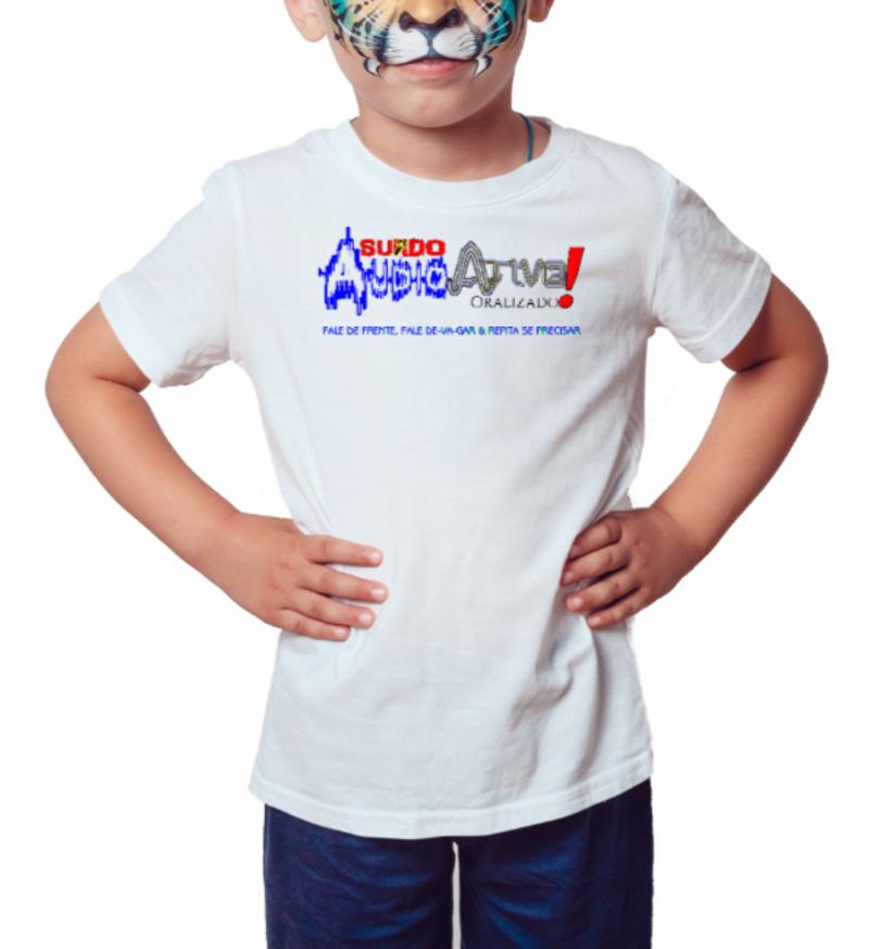 Camiseta Infantil AudioAtivo (Branca)