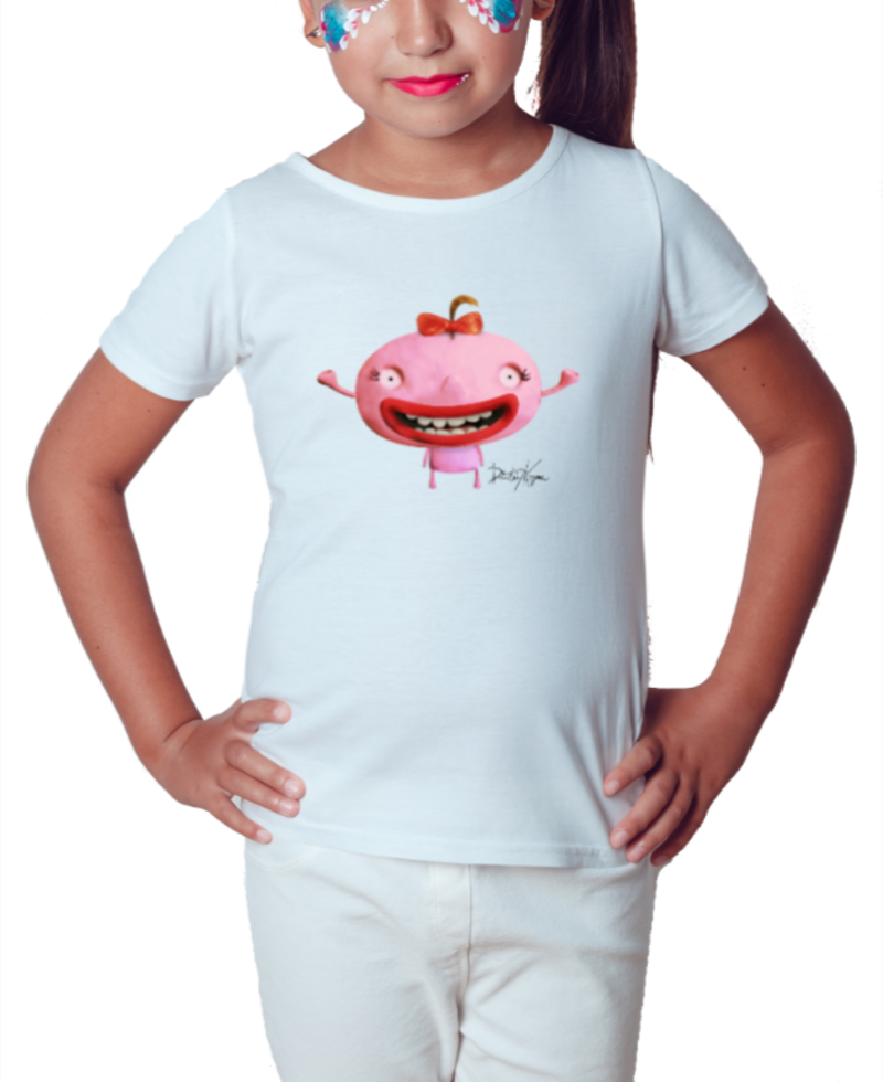 Carpe Diem Pink - Série Toy Arte - Camiseta Infantil Branca