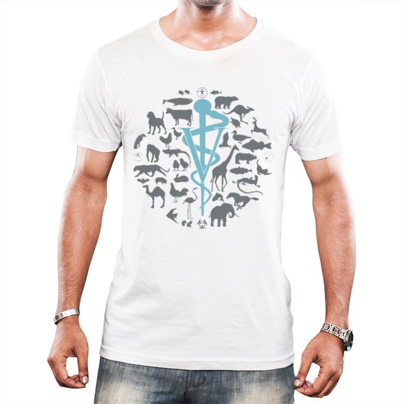 Símbolo veterinária - Masculina branca