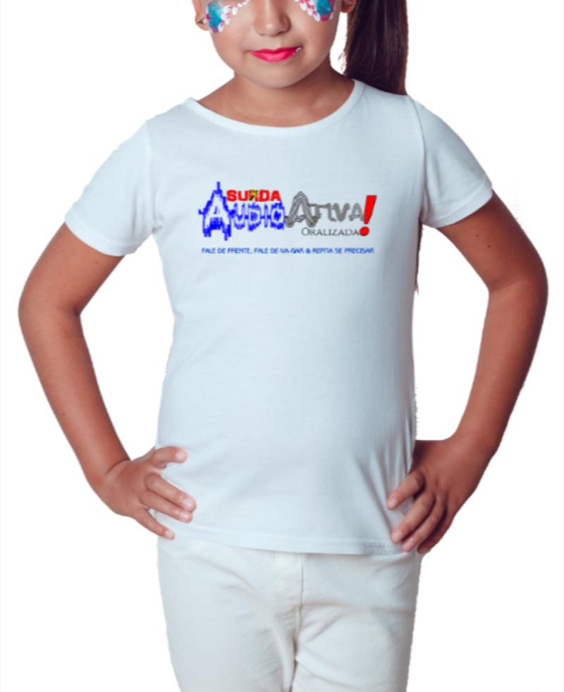Camiseta Infantil AudioAtiva (Branca)