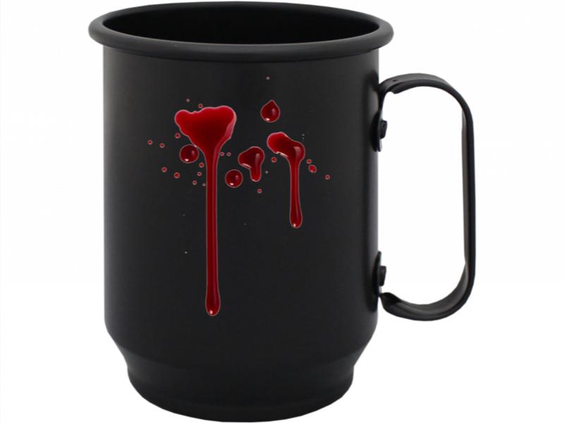 Blood Culture Caneca Personalizada Preta Saw