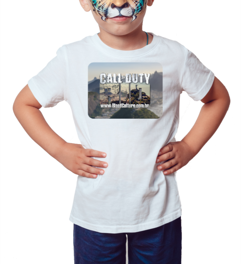 Camiseta Infantil Call of Duty Rio - Branca