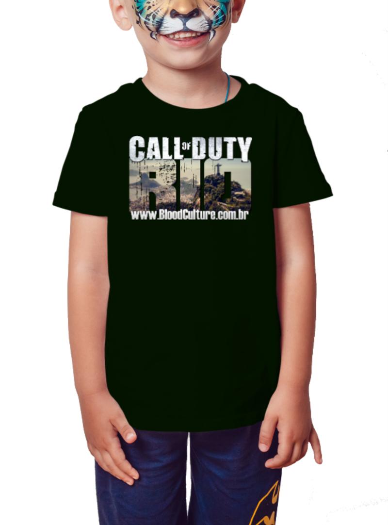 Camiseta Infantil Call of Duty Rio - Preto