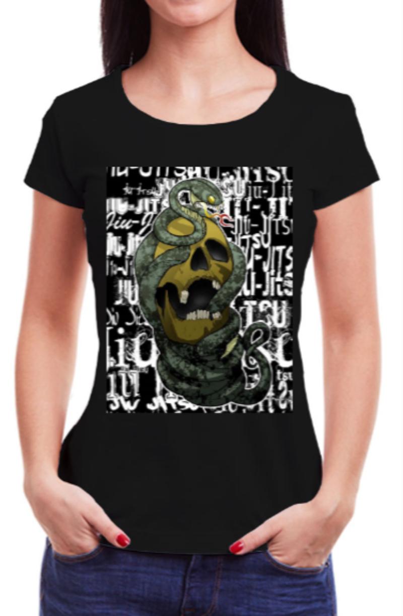 Camisa Babylook Preta Cobra