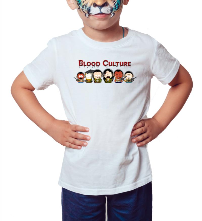 Blood Culture Camiseta Infantil Branca Fundadores