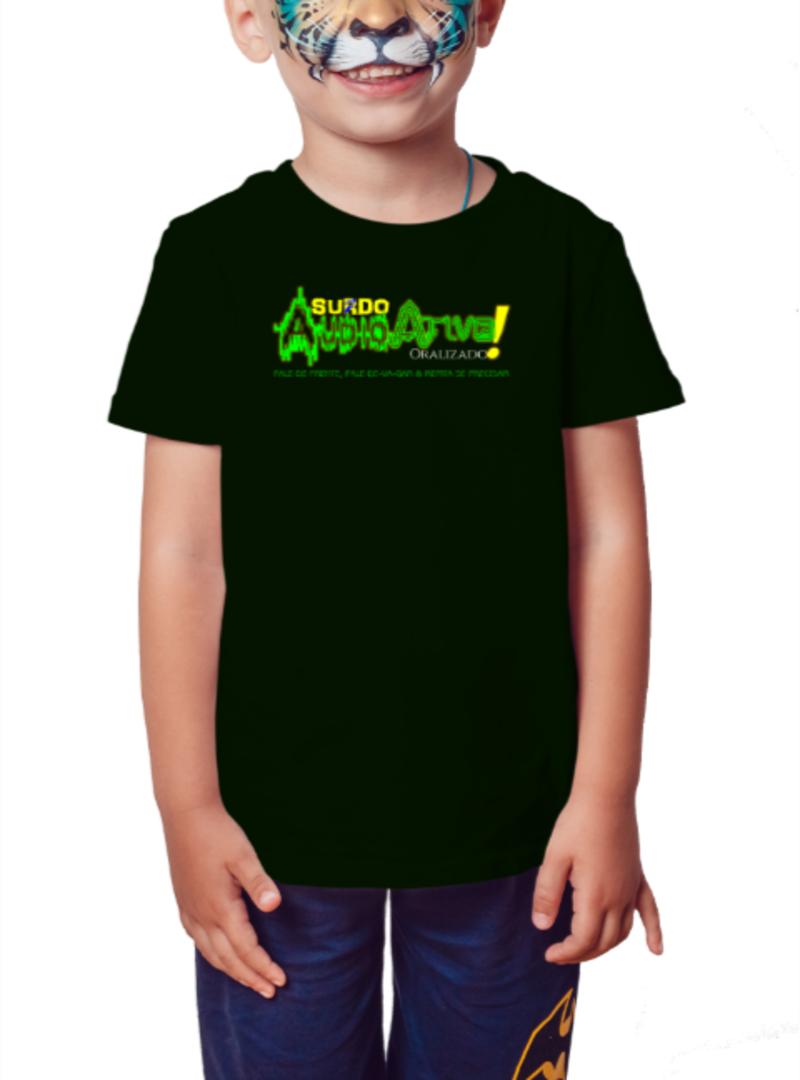 Camiseta Infantil AudioAtivo (Preta)