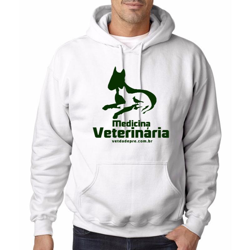 Silhueta Medicina Veterinária - Moletom branco