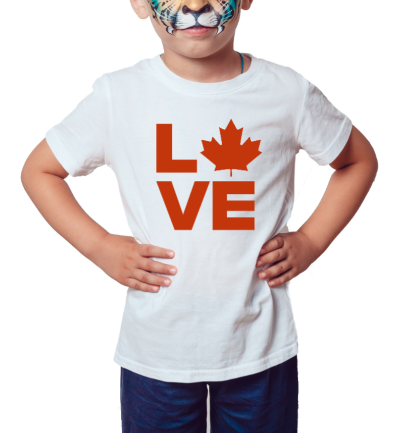 Canada Love - Camiseta Infantil Branca