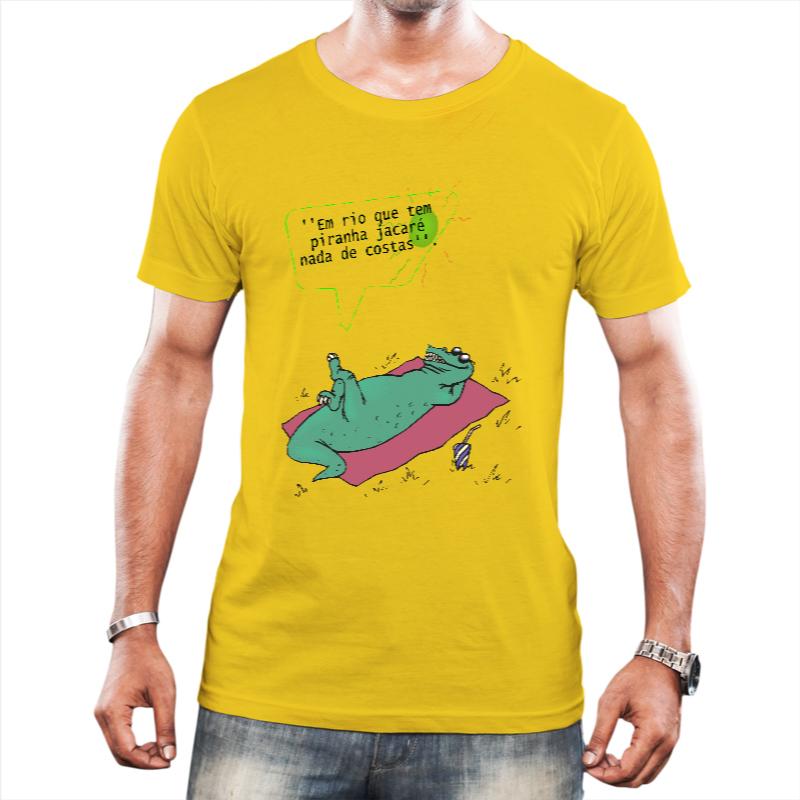 Camiseta Masculina Jacaré