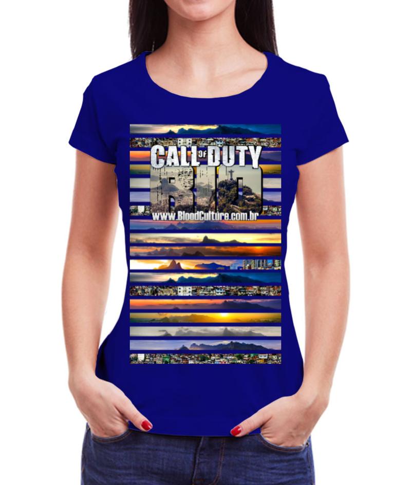 Babylook Call of Duty Rio Azul