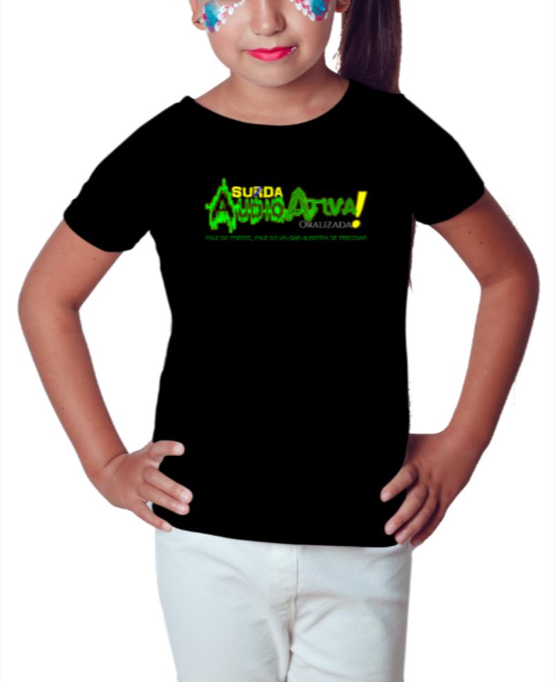 Camiseta Infantil AudioAtiva (Preta)