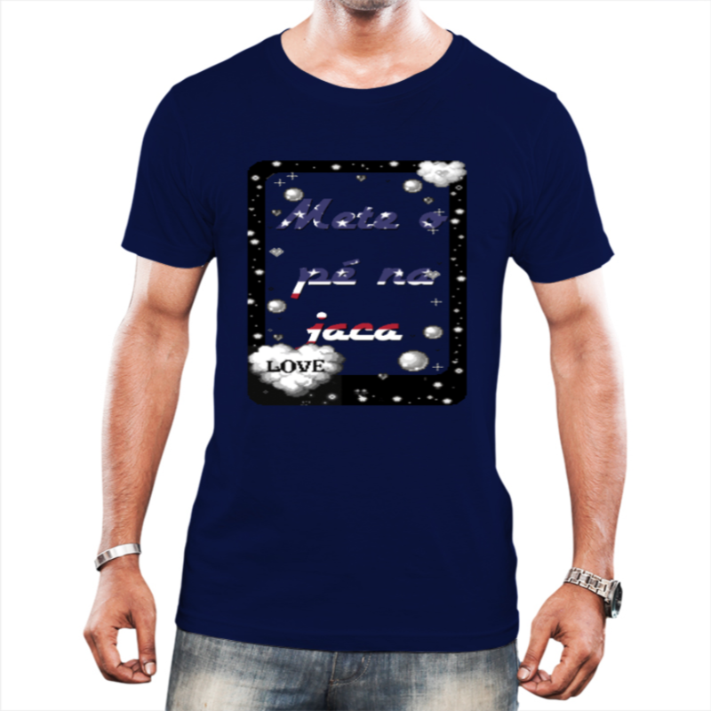 Camiseta Masculina Mete o Pé na Jaca
