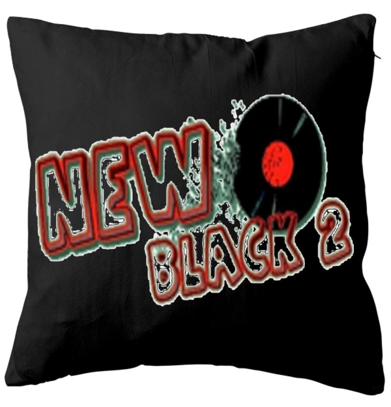 NB2 - Web Rádio New Black 2 - Almofada Aveludada - Preta