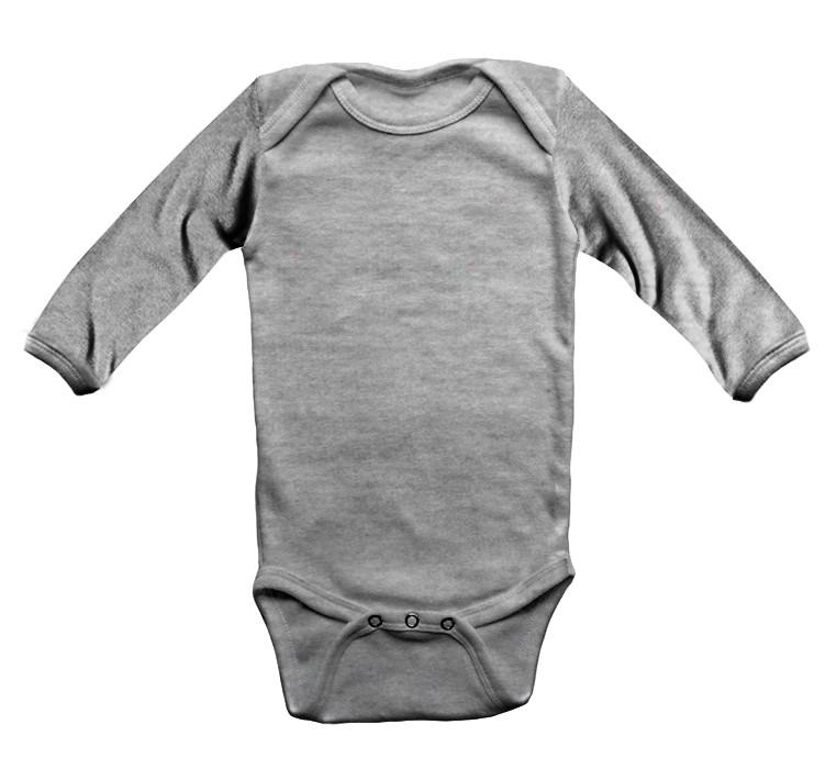 Body Infantil Cinza