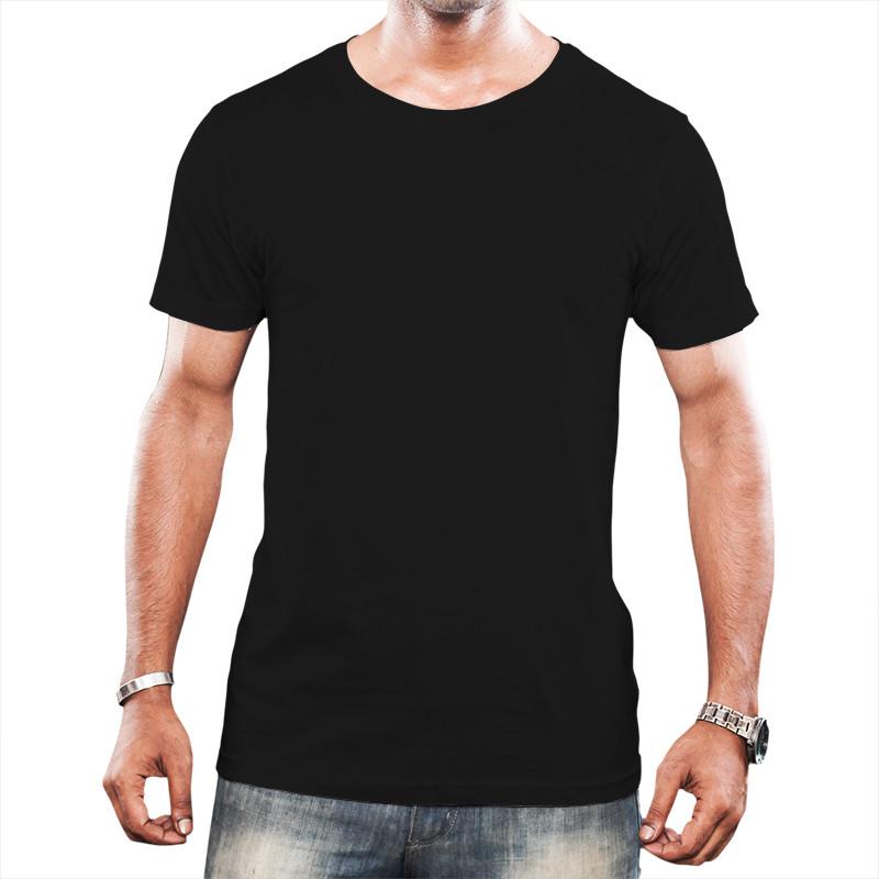 Camiseta Tradicional Masculina - Preta