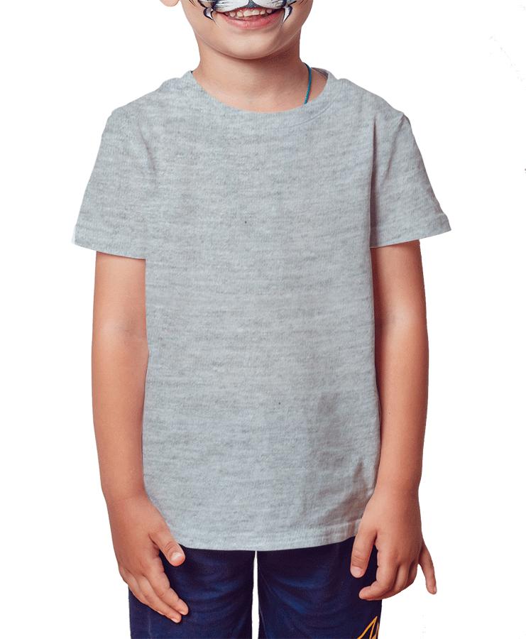 Camiseta Infantil Cinza
