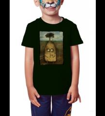 Senhor Batata - Camiseta Infantil Preta