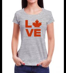 Canada Love - Babylook Cinza
