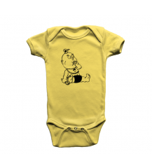 BODY INFANTIL BEBE PIX AMARELO