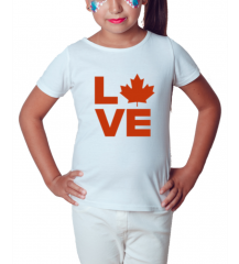 Canada Love - Camiseta Infantil Branca 2