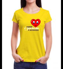 Camiseta Amor Amarelo