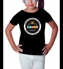 Camiseta BDL - Preta - Infantil Feminina