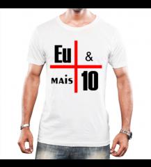 camisa masculina Eu + 10