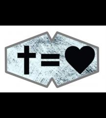 Mascara cruz=coração