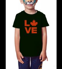 Canada Love - Camiseta Infantil Preta