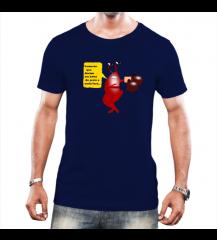 Camiseta a onda leva