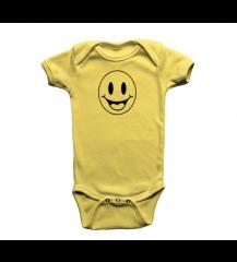 BODY INFANTIL AMARELO SORRISO PIX
