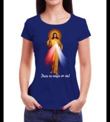 camiseta babylook oração Jesus Misericordioso