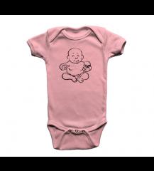 BODY INFANTIL BEBE CARECA  PIX ROSA