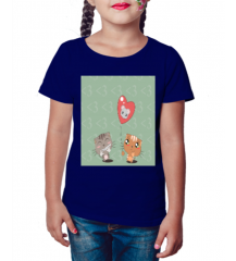 Camiseta Infantil Cat Two