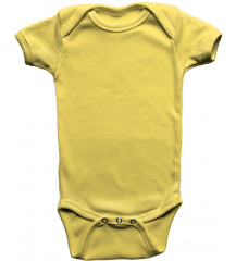 Body Infantil Amarelo